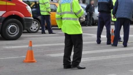 Accident rutier la intrarea în municipiul Brăila: Un TIR s-a răsturnat