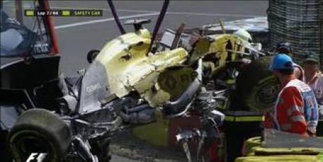 ACCIDENT groaznic în Formula 1: Maşina s-a făcut praf, cursa din Belgia a fost OPRITĂ / VIDEO