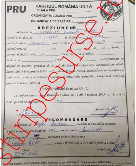 Sebastian Ghiță s-a înscris în PRU/ DOCUMENT