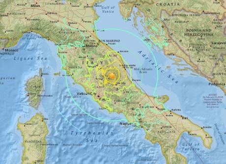 60 de replici după seismul care a cutremurat seara trecută centrul Italiei
