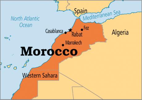 Intervenție în FORȚĂ în Maroc - Profesori GONIȚI cu tunurile de apă, în timpul unei manifestații