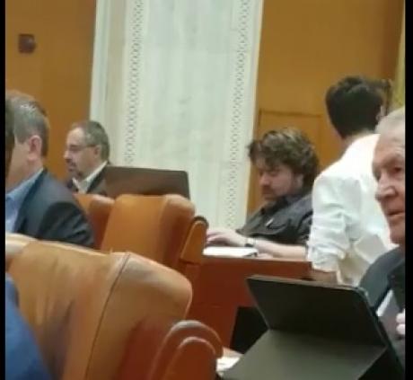 VIDEO - Mihai Goţiu, vicepreşedintele Senatului, surprins a treia oară moţăind în Parlament