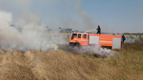 ALERTĂ - Incendiu puternic de vegetație în Delta Văcărești: Pompierii se luptă cu mai multe focare - FOTO