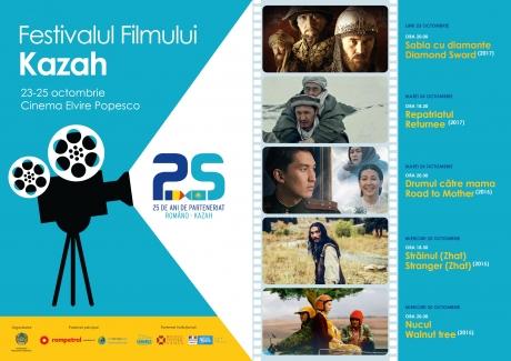 Cea de-a treia ediție a Festivalului de Film Kazah prezentă cinci filme de excepție la Cinema Elvira Popesco - VIDEO