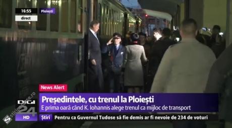 Klaus Iohannis, după ce trenul cu care a plecat la Ploiești a avut întârziere: Mi-ar fi imposibil să merg la Sibiu