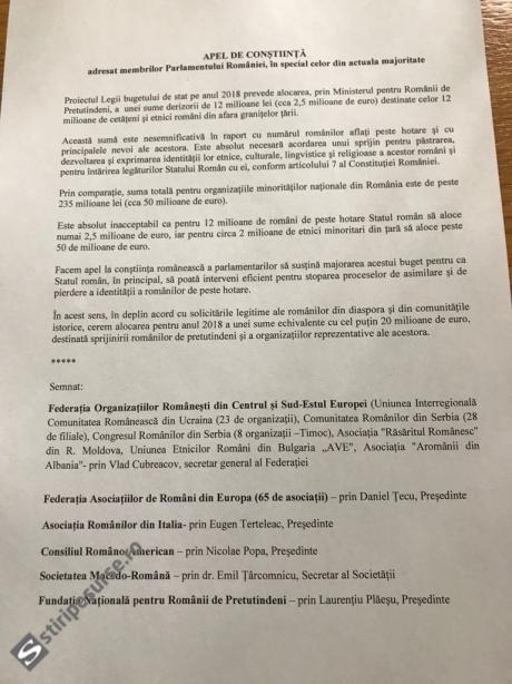 Românii din diaspora au EXPLODAT: scrisoare BOMBĂ către parlamentari