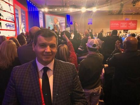 Preşedintele executiv al PMP, Eugen Tomac, martor la ultimul discurs al lui Trump