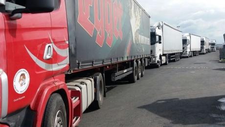 Lorries leaving Romania via Giurgiu waiting 200 minutes at checkpoint