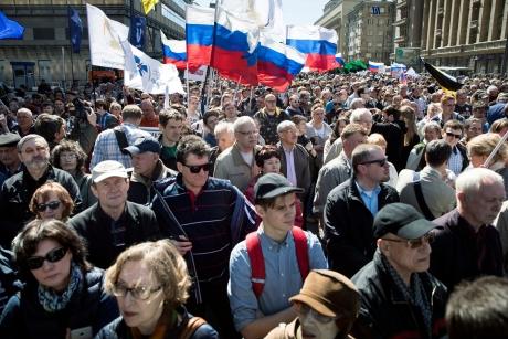 10.000 de oameni cer pe străzile Moscovei, 'alegeri libere şi echitabile'