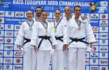 Performanță de aur a României la Campionatul European de judo kata