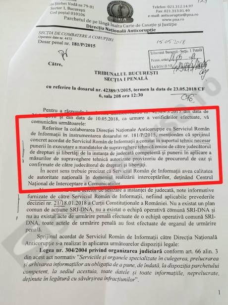 DNA, răspuns oficial: Ce rol a avut SRI în dosarul lui Sorin Oprescu/ DOCUMENT