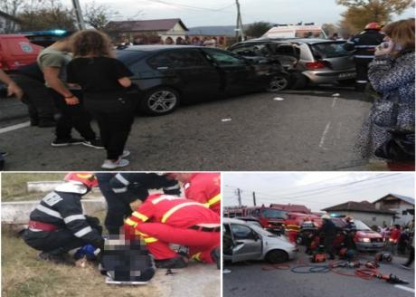 IMAGINI GREU DE PRIVIT Un om a murit, iar trei tineri sunt răniți, după un accident rutier - VIDEO