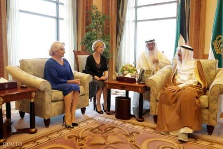 Viorica Dăncilă, întâlnire cu șeful statului Kuweit: ce au discutat cei doi