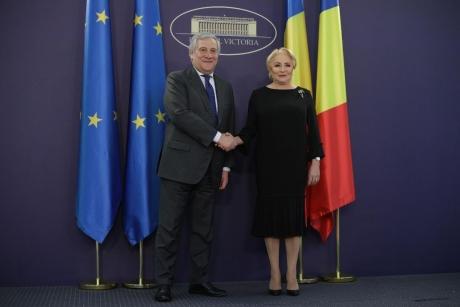 Premierul Viorica Dăncilă l-a primit pe preşedintele PE, Antonio Tajani
