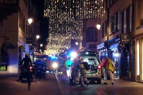 Târgul de Crăciun de la Strasbourg este un eveniment plasat sub o securitate foarte strictă
