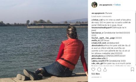 STRANIU Ultima fotografie postată de artista Anca Pop pe Instagram este EXACT cu locul morții ei - FOTO