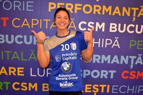 Handbalista Claudia Constantinescu a semnat cu CSM București și debutează în partida din Liga Campionilor cu Gyor