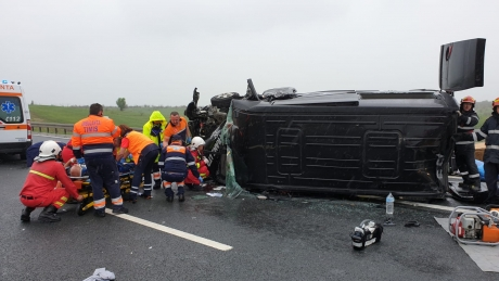 PRĂPĂD pe Autostrada Soarelui - Al doilea ACCIDENT în decurs de o oră