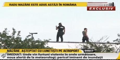 VIDEO Măsuri EXTREME pe Aeroportul Otopeni, înainte de aterizarea lui Radu Mazăre: Lunetiștii îl așteaptă pe fotul primar