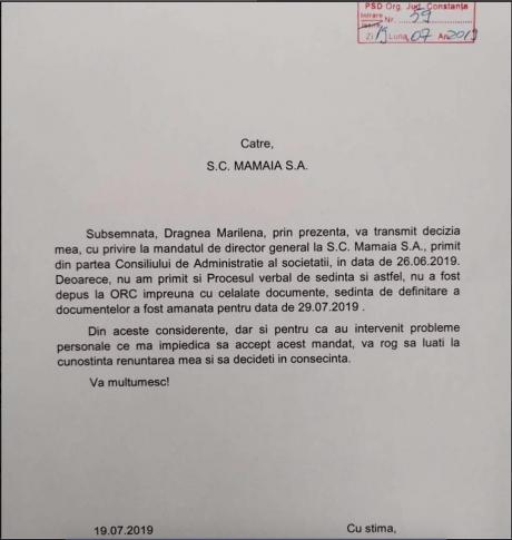 Deputatul Mircea Titus Dobre: 'De la #PSDragnea, la Partidul Stroe-Dumitrache #Constanța SA. #Dragnea renunță la șefia MAMAIA SA. Marilena Dragnea'