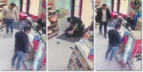 VIDEO - Imagini ruşinoase: Mai mulţi bărbaţi din Timişoara au privit nepăsători cum o vânzătoare se bătea cu doi hoţi