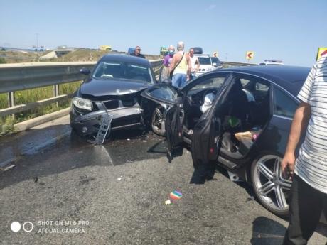 FOTO Şase persoane implicate într-un accident rutier pe DN 17, la Câmpulung Moldovenesc